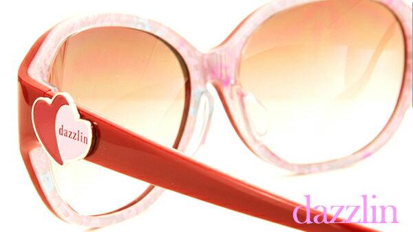 【dazzlin(ダズリン)サングラス】American Sweet Casual DZF-3507(28) ファッションサングラス フルセル メガネ 度付き サングラス uvカット サングラス 大きめ ファッショングラス グラデ グラデーション ハート かわいい メガネ ブランド ダズリン【RCP】 10P23Sep15