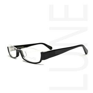 送料無料 メガネ 度付き GI5201 C1 伊達 度なし 家用 眼鏡 ブルーライトカット 軽量フレーム 布ケース アンダーリム 逆ナイロール セルフレーム