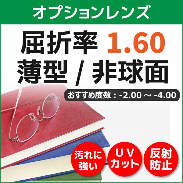 【オプションレンズ】薄型非球面レンズ 屈折率1.60 (2枚1組)