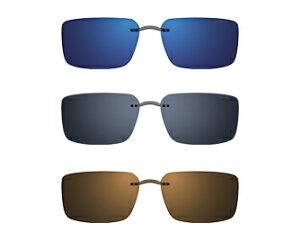 Silhouette StyleShade シルエット スタイルシェード 純正クリップオンサングラス 偏光ブラウン(ブロンズフラッシュミラー) 03 レンズシェープ(5090-03)