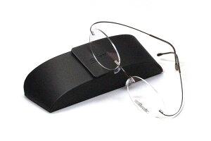 薄型レンズ付メガネセット NewバージョンSilhouette MinimalArt TMA 5515/CO-6041(パインコーン:松色)【リムレス】【世界一軽い】【メンテナンスフリー】