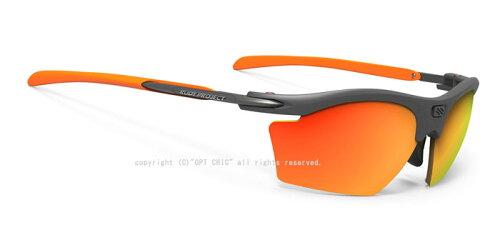 2019年新型RUDYPROJECTRYDONSLIM小型ポラール3FX偏光グレールディプロジェクトスポーツサングラスライドンスリムグラファイトフレームマルチレーザーオレンジ