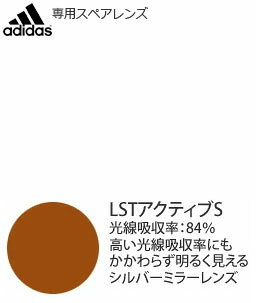 adidas Gazelle a123L専用スペアレンズ LSTアクティブS(左右1組)