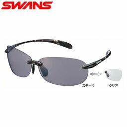 【送料無料】【調光レンズ】ワイドなレンズ面で紫外線をしっかりガード・トレッキング、タウンユースに最適な軽いサングラスSWANS スポーツサングラス Airless-Beans SABE-0066 DMSM2