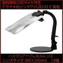 【送料無料】テラサキ ビッグアイシリーズ LEDライト付きスタンド型ルーペ ビッグアイLED-S3 F角型(1.8倍300×250mm)