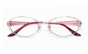 【送料無料】メガネ度付き/度なし Sylphleurシルフルール SYL-002S 1(PK)ピンク【薄型レンズ追加料金0円】(メガネケース・メガネ拭き付) メガネ/めがね/眼鏡/度付きメガネ/度入り/伊達メガネ/眼鏡