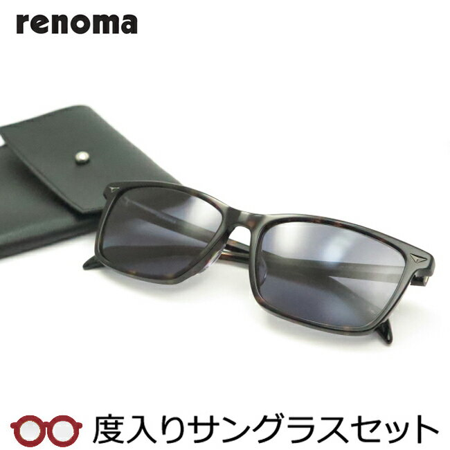 【送料無料】【度つきカラーレンズつき!】レノマ【renoma】度入りサングラスセット(度付きサングラス)20-1149-1