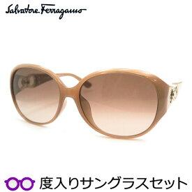 【送料無料】【Salvatore Ferragamo】フェラガモ度入りサングラスセット(度付きサングラス)SF896SRA 665 度付き 度なし オパールローズ