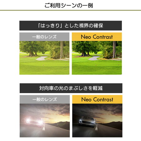 お持ちのフレームのレンズ交換も歓迎!【【Kodak】コダックネオコントラスト&シーコントラスト・neocontrast/seekontrast・度入り【度つき】眩しさ対策・防眩・くっきり・【通常カーブ用】(2枚1組)