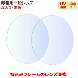 持ち込みフレームのレンズ交換 おまかせ 度入り 眼鏡レンズ 無色(2枚1組) UVカット マルチコートつき