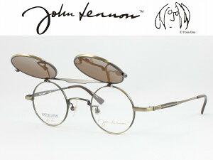 John Lennon ジョンレノン 日本製メガネフレーム JL-1042-3 丸メガネ ラウンド はねあげ式サングラス 複式アルバイト 度付き対応 近視 遠視 老眼 遠近両用