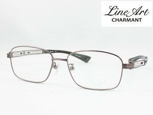 ラインアート シャルマン XL1474-BR 53サイズ Quattro クアトロ メガネフレーム 度付き対応 近視 遠視 老眼 遠近両用 日本製