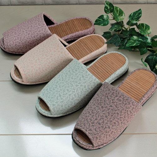 arabesque pattern bamboo slipper(唐草模様の竹スリッパ)[スリッパ 春夏もの]