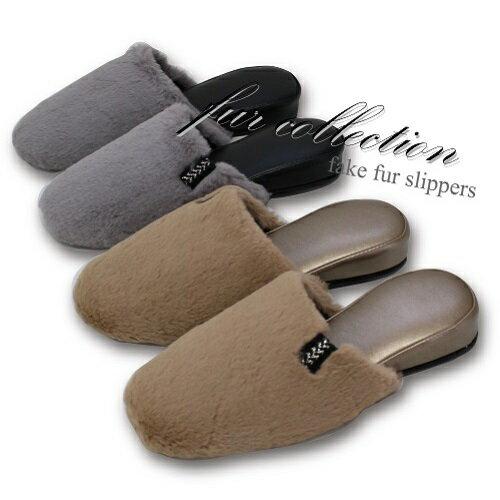 (秋の新作)fake fur slipper(フェイクファースリッパ)