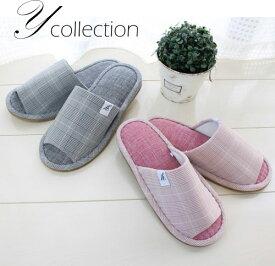 【送料無料2足set】Color Glen check slipper(カラーグレンチェックスリッパ)(Pink Mサイズのみ) 2足セット refreshins freeshop1