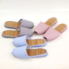 スリッパ 訳あり bamboo cross check slipper(吊込みタイプ)