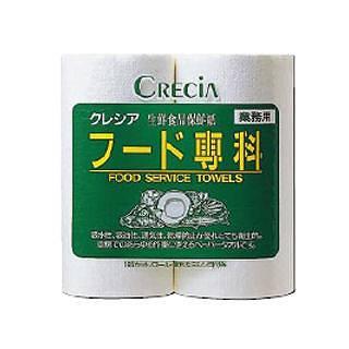 『使い捨て ペーパータオル 』クレシア フード専科[生鮮食品保存紙] 2R[1箱24ロール入]