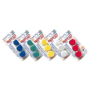 チョークレスボード専用マグネット WBGS-P26-3P 白 【 店舗備品 ホワイトボード関連品 】