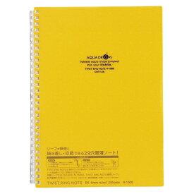 【まとめ買い10個セット品】 AQUA DROPs ツイストノート セミB5判 中紙30枚 N−1608−5 黄