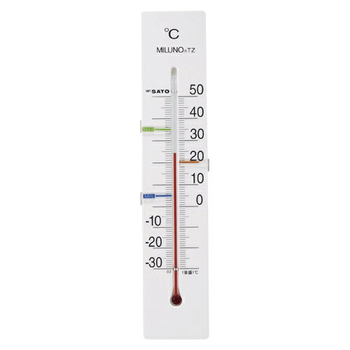 【まとめ買い10個セット品】寒暖計ミルノTZ 1514-40 ホワイト 1個 佐藤計量器【 生活用品 家電 セレモニー アメニティ用品 温湿度計 】