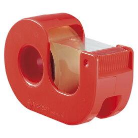 【まとめ買い10個セット品】セロテープ[R] 小巻カッターつき 巻芯径25mm CT-18DRR レッド 1個 ニチバン【 事務用品 貼 切用品 セロハンテープ 】
