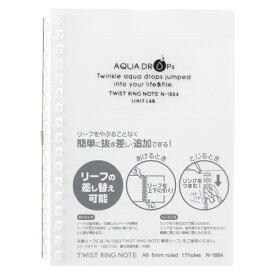 【まとめ買い10個セット品】 AQUA DROPs ツイストノート A6判 中紙30枚 N−1664−1 乳白