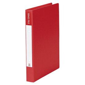 【まとめ買い10個セット品】 紙製リングファイル A4判タテ型(背幅36mm) SRF−A4−R レッド