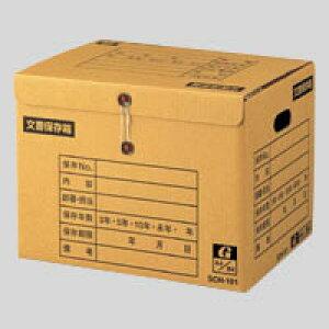 【まとめ買い10個セット品】 イージーストックケース 文書保存箱 段ボール製 留めひもタイプ(上開き) SCH−101