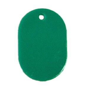 番号札 小判型・スチロール製 無地 100枚入り CR-BG30-G 緑