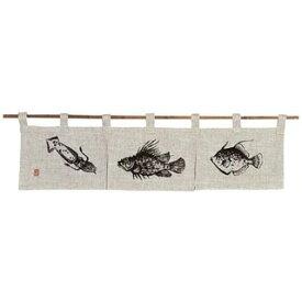 【まとめ買い10個セット品】 魚道楽 のれん 128-01W 850×200