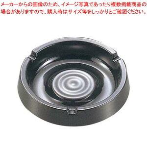 【まとめ買い10個セット品】 マーシャン灰皿 ブラック メラミン【 卓上小物 】