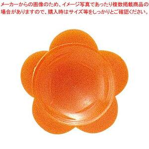 【まとめ買い10個セット品】 わさび皿(500枚入)花 オレンジ【 厨房消耗品 】