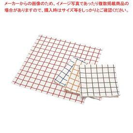 【まとめ買い10個セット品】 EBM キャンパス厚手 チェックナプキン オレンジ 450×450