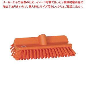 ヴァイカン アングルデッキブラシ ハードタイプ 70477 オレンジ清掃・衛生用品