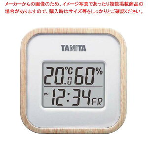 タニタ デジタル温湿度計 TT-571-NA ナチュラル温度計