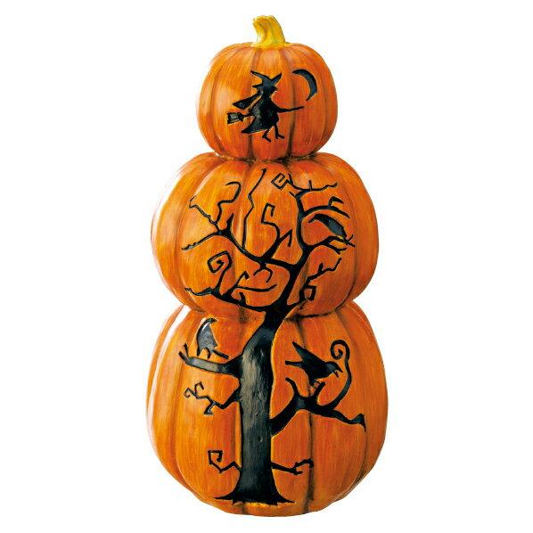 パンプキンオブジェ3連1個 【ハロウィン halloween 装飾 飾り ディスプレイ 置物 フォトジェニック インスタ映え インテリア 雑貨 小物 デコレーション ハロウイン ハロウィーン】