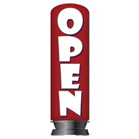 【旧商品】エア看板スリム型 OPEN赤 H200cm(本体+バルーン)一式セット