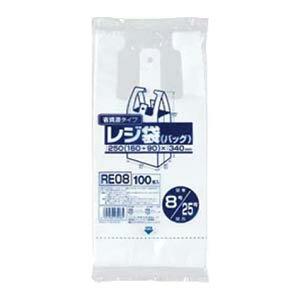 省資源タイプ レジ袋 100枚入 RE-08 [乳白]