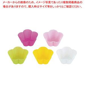 シリコンカップ フラワー(5色セット) L 59608【 ケーキ型 焼き型 タルト型 シリコン 】 【 バレンタイン 手作り 】