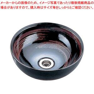 天目刷毛目手洗鉢(器具付) 9号 SV80-3【 メーカー直送/代引不可 】
