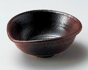 和食器 テ041-167 赤楽黒吹柿小鉢