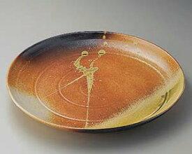 和食器 メ164-067 古信楽14.0丸皿