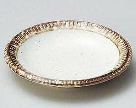 和食器 ホ225-547 渕錆粉引小皿