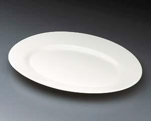 【まとめ買い10個セット品】和食器 イ636-096 ゼニックス(超強化ガラス食器)オーバルプラター35cm 【キャンセル/返品不可】