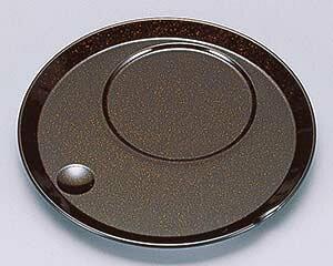 【まとめ買い10個セット品】エ704-177 [A]丸茶碗蒸し台 梨地【キャンセル/返品不可】