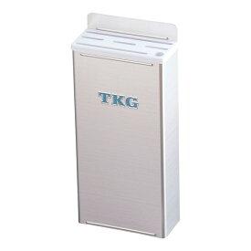 『 ナイフラック 』TKG18-8プラスチック板付カラーナイフラック 小 Bタイプ 白