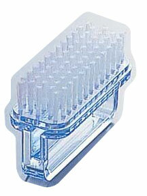 PP爪ブラシNo.250ブルー【手指消毒器】