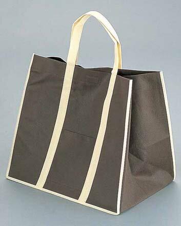 『手さげ袋 』ファインビュー 不織布バッグ[10枚入] 大 ブラウン