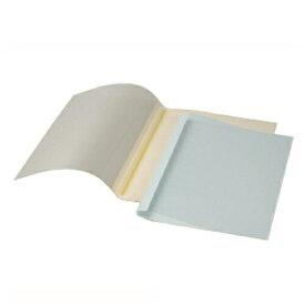 【まとめ買い10個セット品】 GBCサーマバインド 糊付け製本機 表紙カバー10枚入(表紙:透明クリアシート、裏表紙:紙) TCB06A4R ブルー