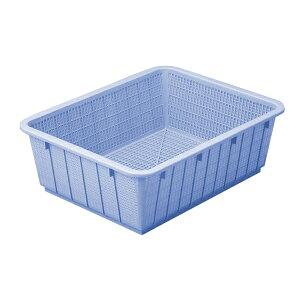【まとめ買い10個セット品】 アシスト カラーざる 深49型 ブルー 02915-9